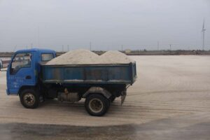 salt transporting truck